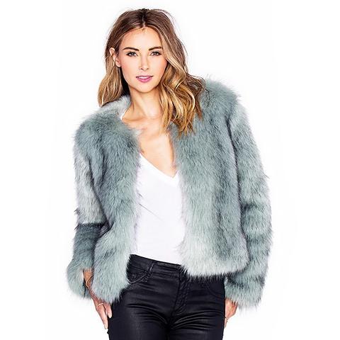 Uptown Faux Fur Coat