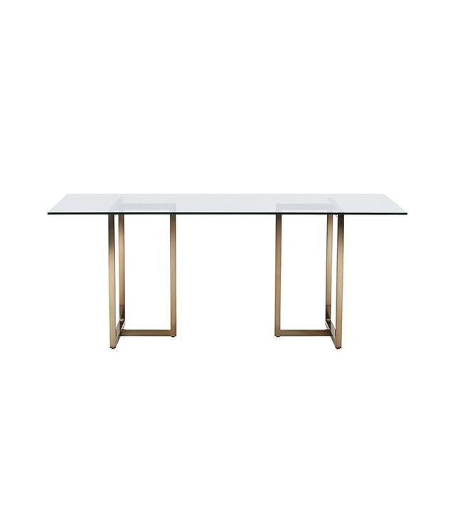 "CB2 Silverado Brass 72"" Rectangular Dining Table"