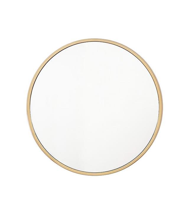 West Elm Metal Frame Oversized Round Mirror