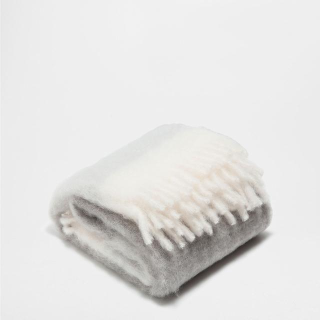 Zara Home Fringed Mohair Blanket