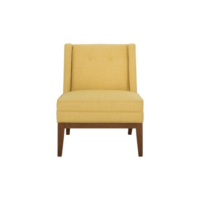 Freedom Astrid Hazelnut Leg Chair in Dexter Citrus