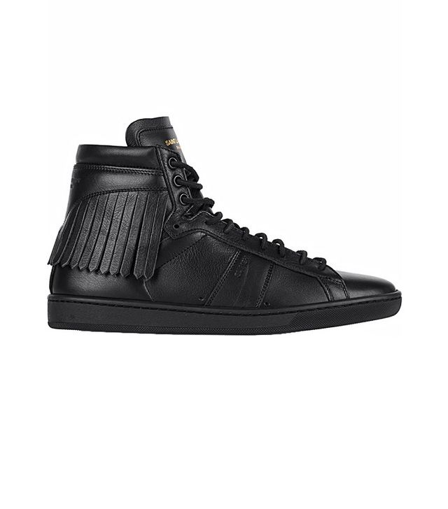 Saint Laurent Fringed High-Top Sneakers