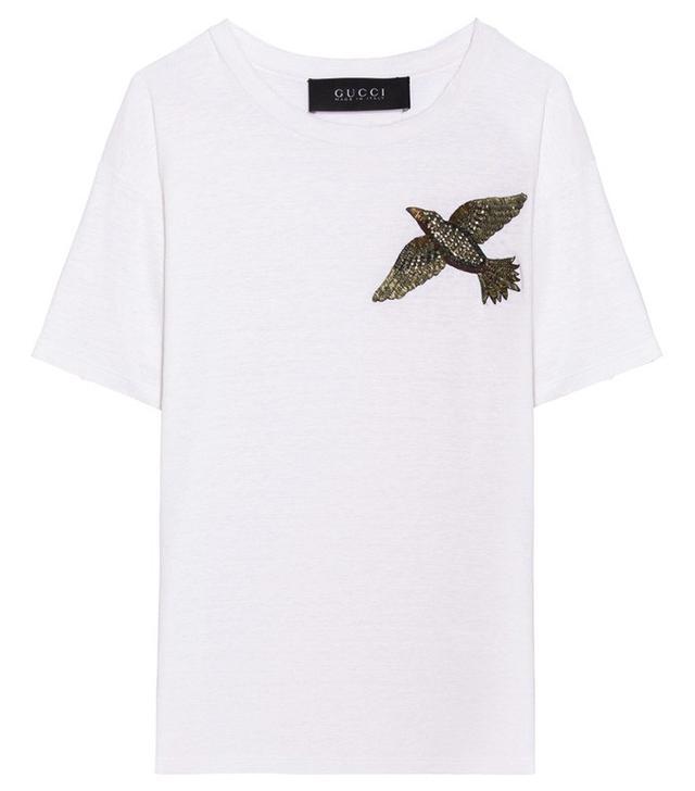 Gucci Bird Embellished T-Shirt