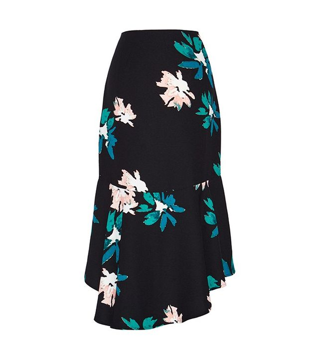 Who What Wear Fluted Midi Skirt