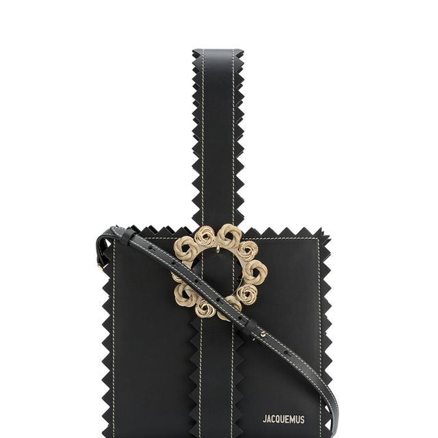 black Le Sac Gitan zigzag leather tote bag