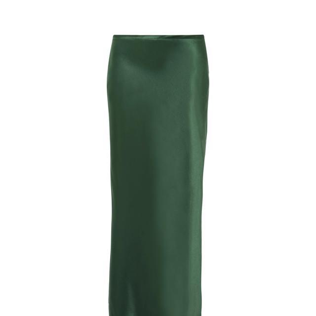 Silk-satin Midi Skirt