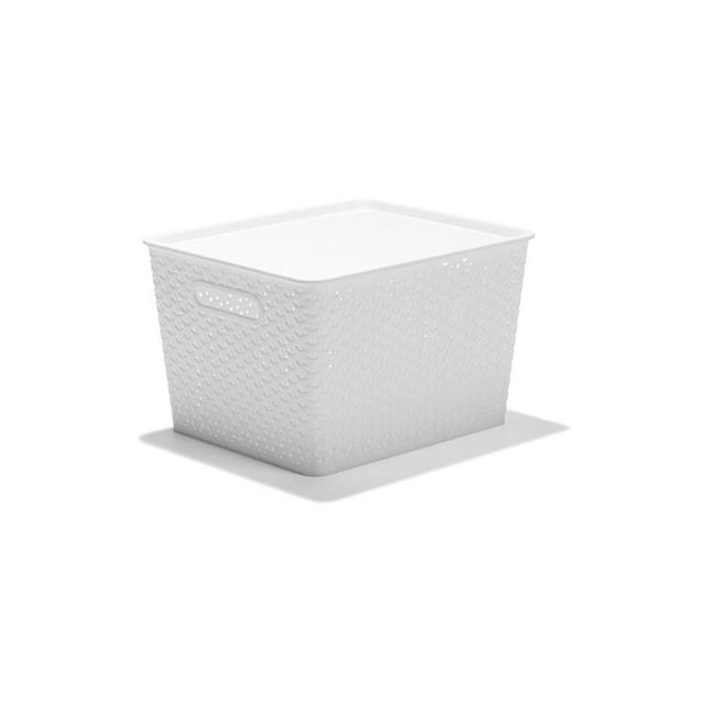 Kmart Rattan Style Storage Tub - White