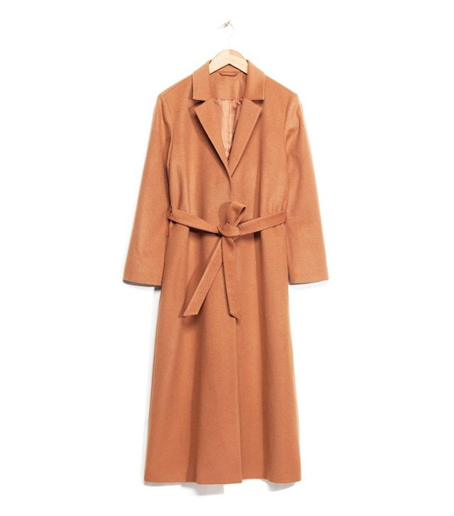 & Other Stories Long Waisted Wool Coat