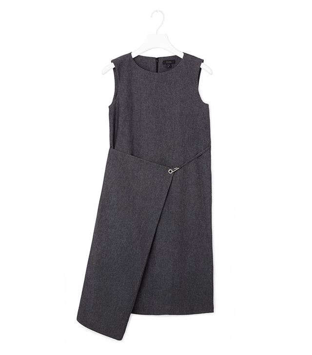 COS Fold-Over Denim Dress