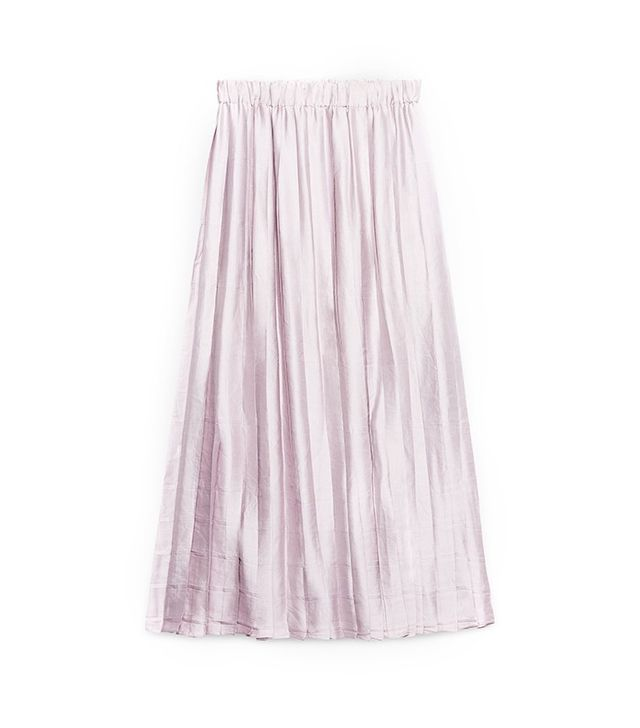Gucci Charmeuse Pleated Skirt