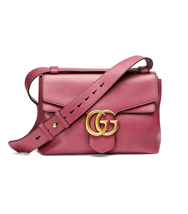 Gucci Marmont Leather Shoulder Bag