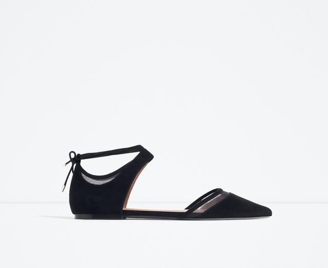 Zara Mesh D'Orsay Shoes