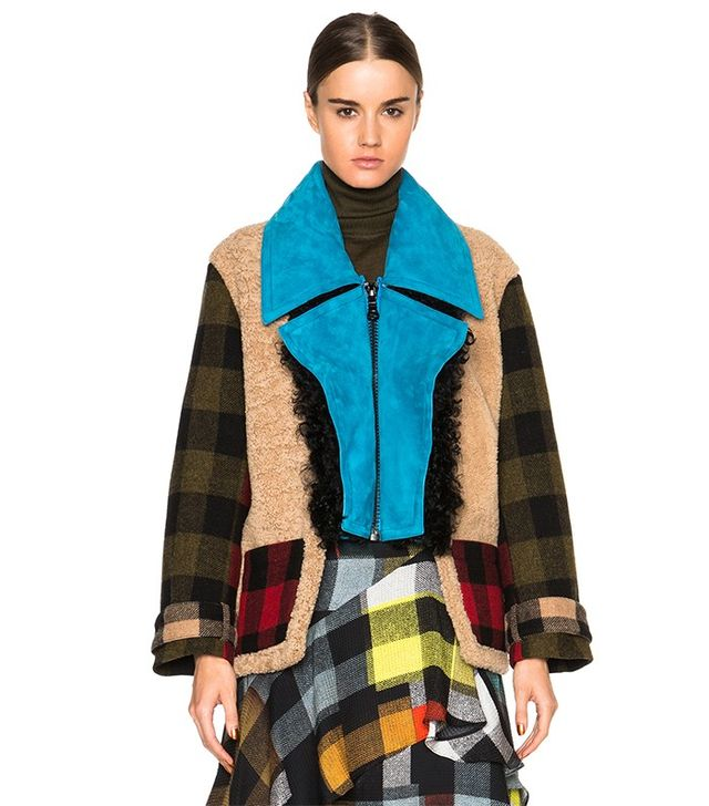 Preen by Thornton Bregazzi Lori Sheep Shearling and Wool Jacket