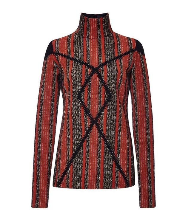 Thakoon Striped Boucle Long-Sleeved Sweater