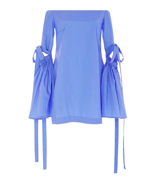 Ellery Off the Shoulder Long Bell Sleeve Cyril Tunic Top