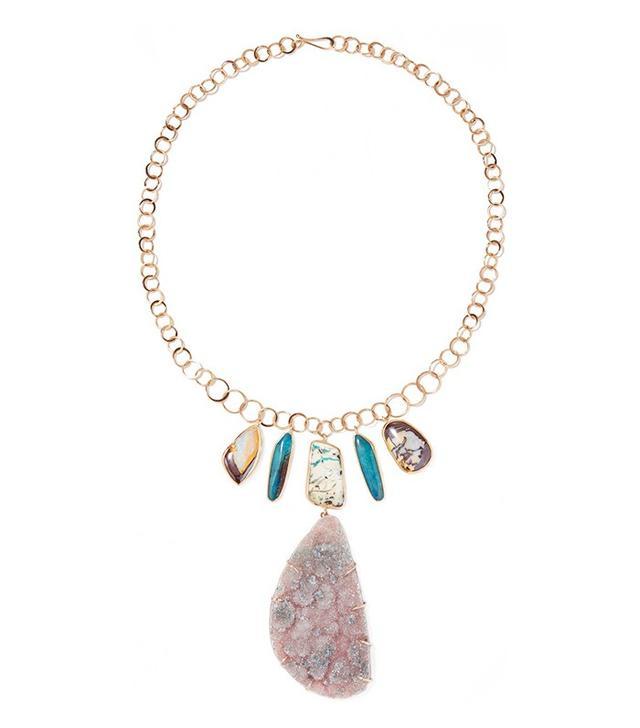 Melissa Joy Manning Opal and Druzy Necklace