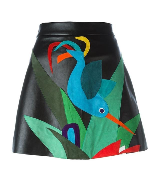 P.A.R.O.S.H. Bird Patch Mini Skirt
