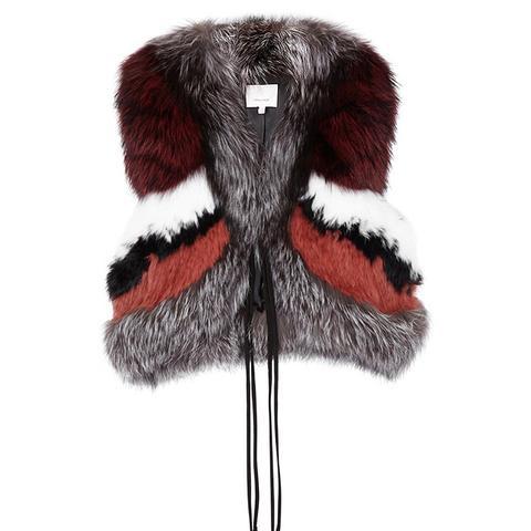 Syrah Cropped Fur Gilet