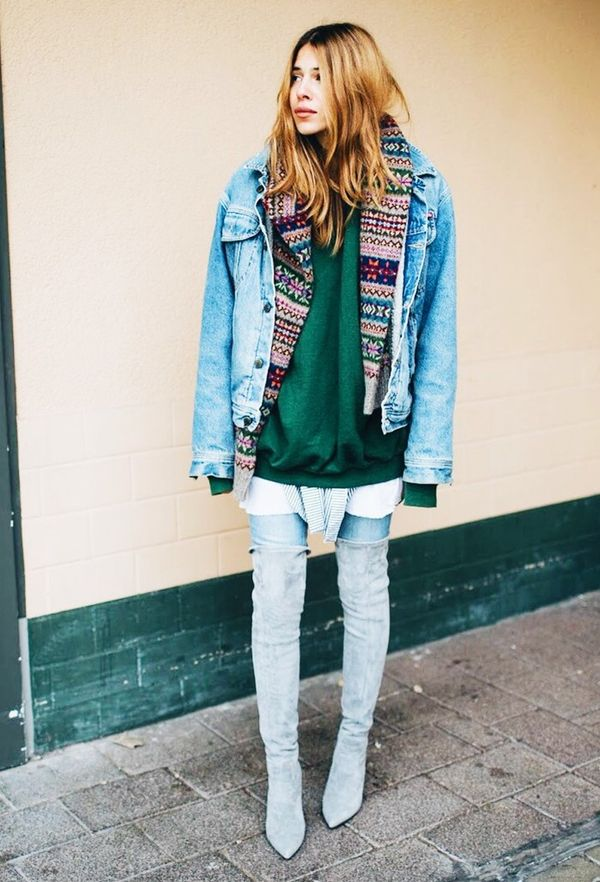 Try the four-layer look in place of a snuggly winter coat