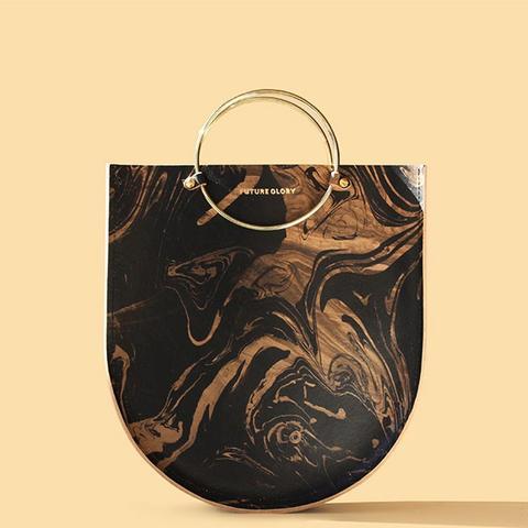 Marbled Black/Gold Bag