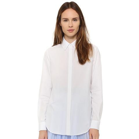 Pleated-Back Shirt