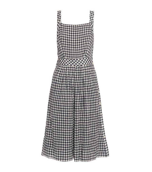 Sea Gingham Pinafore Dress