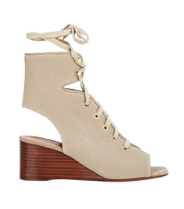 Chloé Canvas Gladiator Wedge Sandals