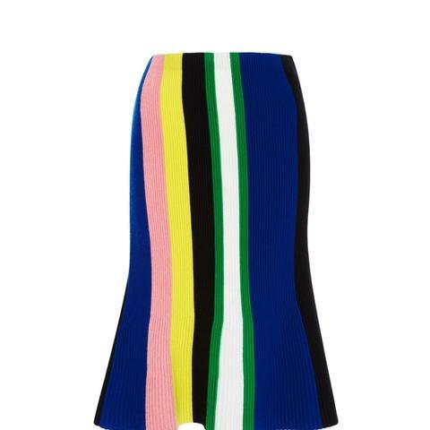 Ottoman Striped Knit Skirt