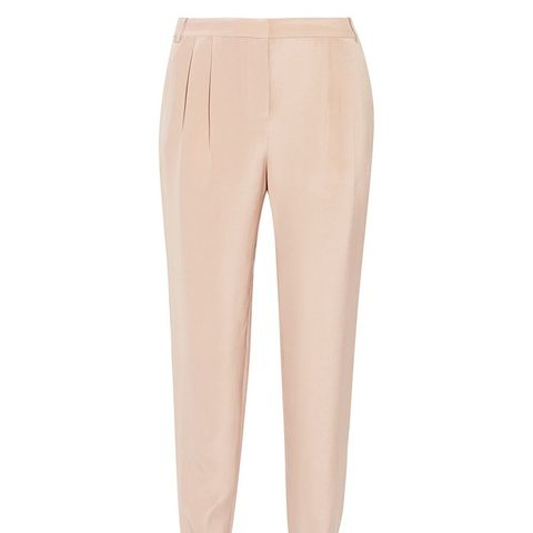 Seleste Silk Crepe de Chine Tapered Pants