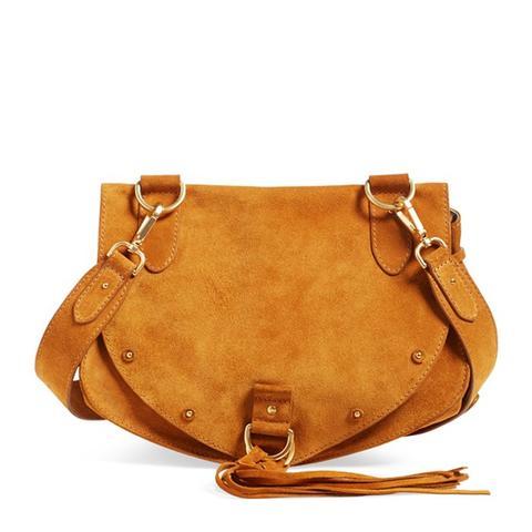 Medium Collins Leather & Suede Messenger Bag