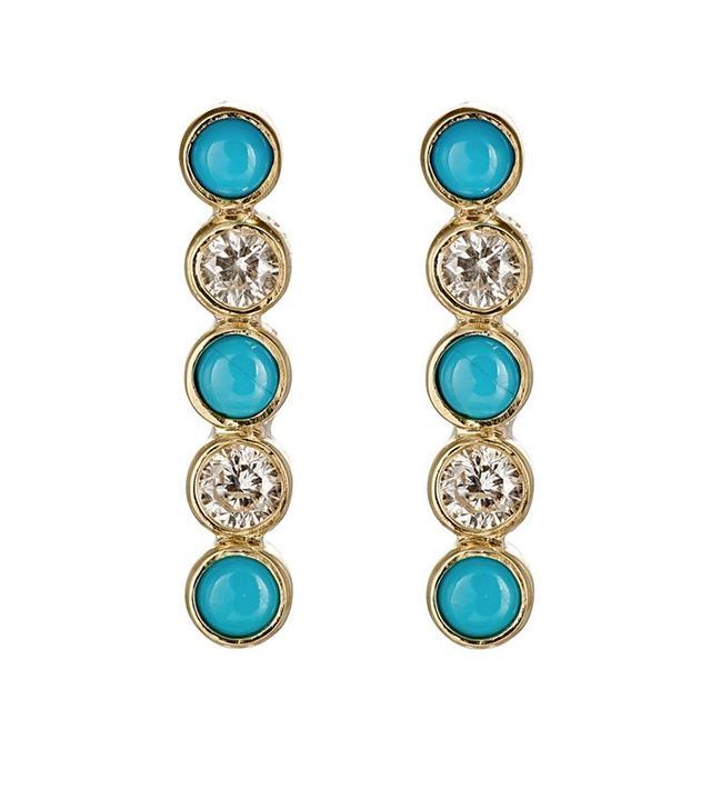 Jennifer Meyer Bezel Bar Earrings