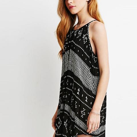 Geo Print Trapeze Dress
