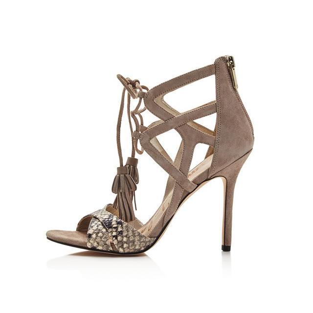 Sam Edelman Aimes Strappy Tasseled High Heel Sandals