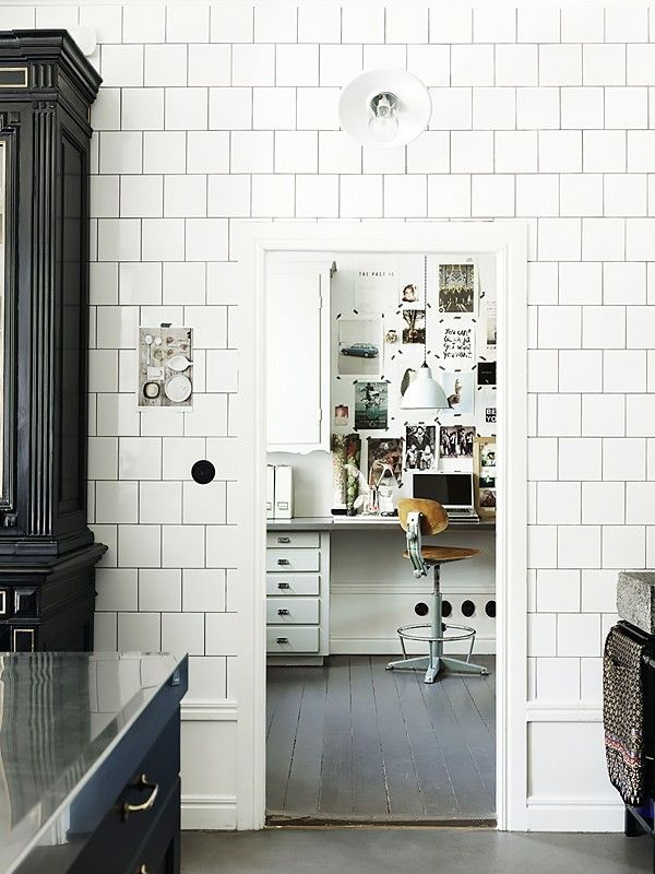 12 Chic Square Tiled Rooms Mydomaine