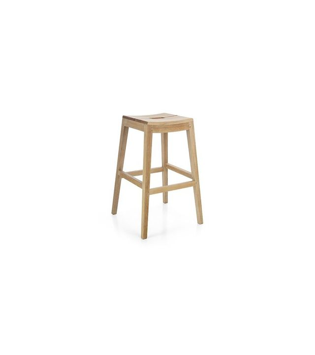 Crate and Barrel Regatta Backless Bar Stool