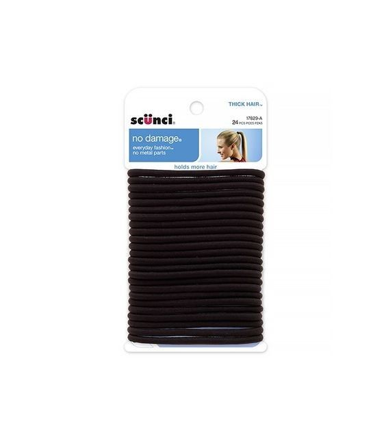 Scunci Black Hair Elastics