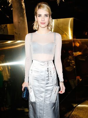 Emma Roberts's Petite-Girl Solution to the Midi Skirt