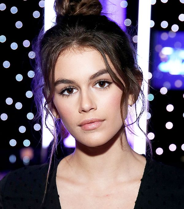 Kaia Gerber Topknot - Celebrity Beauty Looks