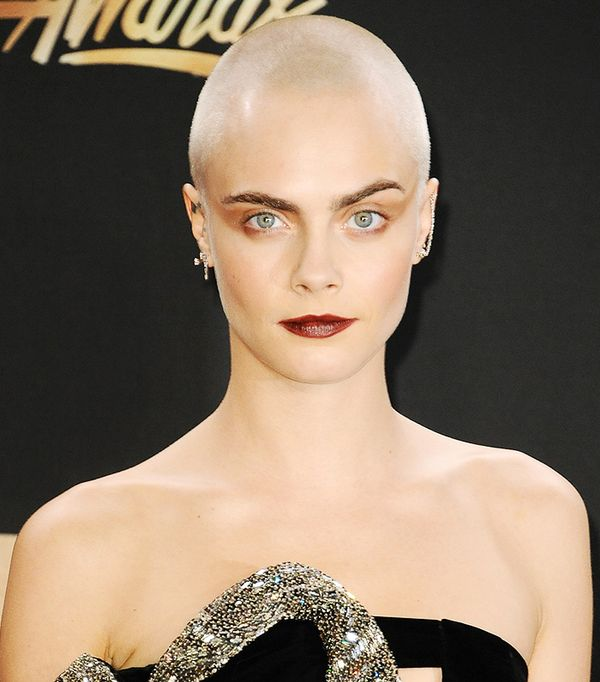 Cara Delevingne Shaved Head - Celebrity Beauty Looks