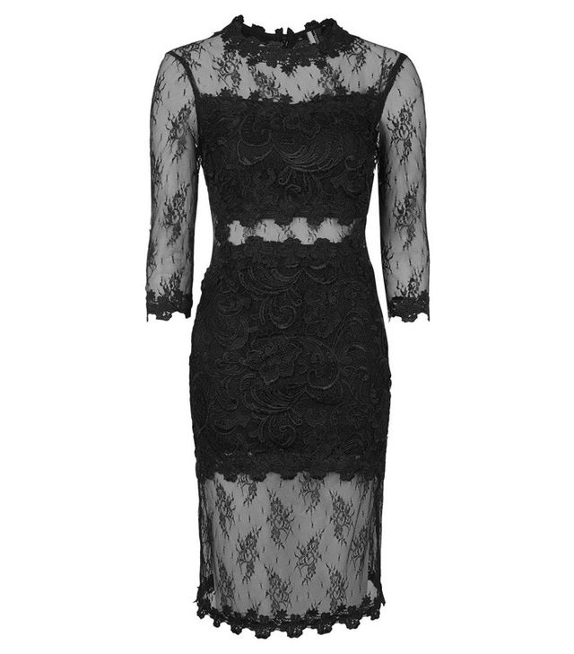 Topshop Illusion Lace Body-Con Dress