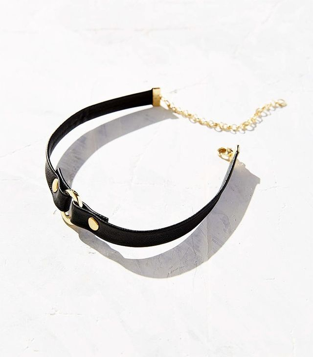 Urban Outfitters Vegan Leather Circle Choker Necklace