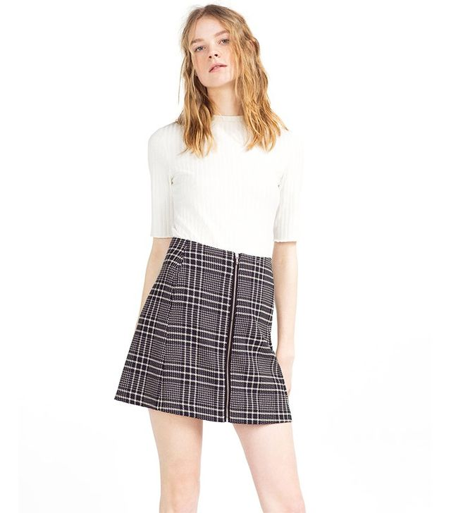 Zara Check Skirt