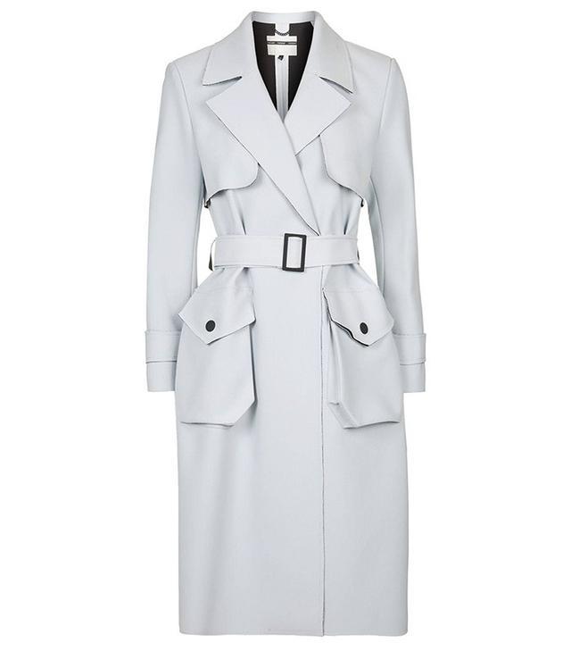Topshop Bonded Belted Truster Coat