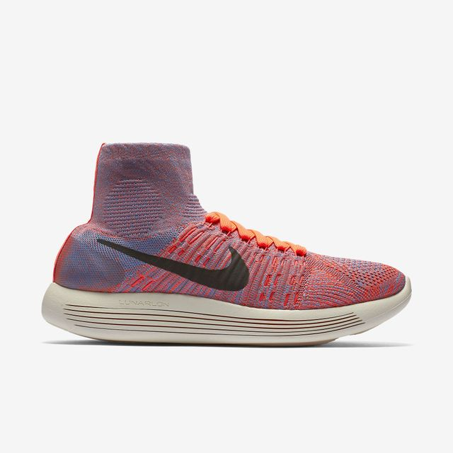 Nike LunarEpic Flyknits in Hyper Orange