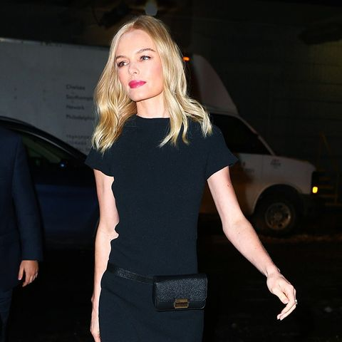 Kate Bosworth, Target, Who What Wear, Black, Dress, Belt, Boots, Outfit, Street Style