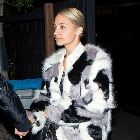 Nicole Richie, Fur Coat, Skinny Jeans, Ankle Boots, Outfit, Style