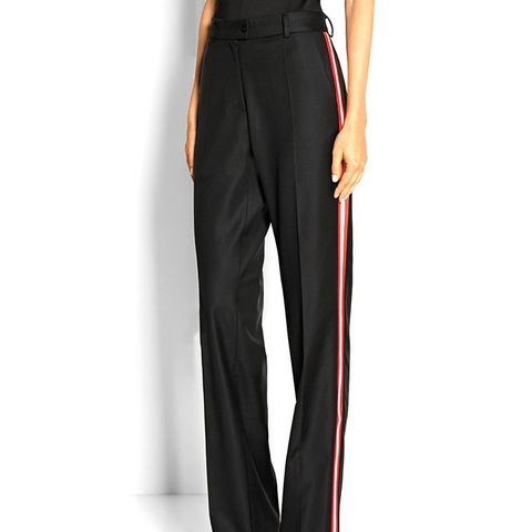 Chilton Wool-Twill Straight-Leg Pants