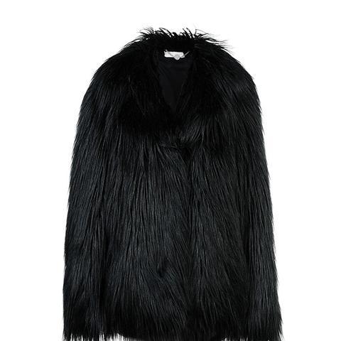 Black Fur Free Fur Dan Coat