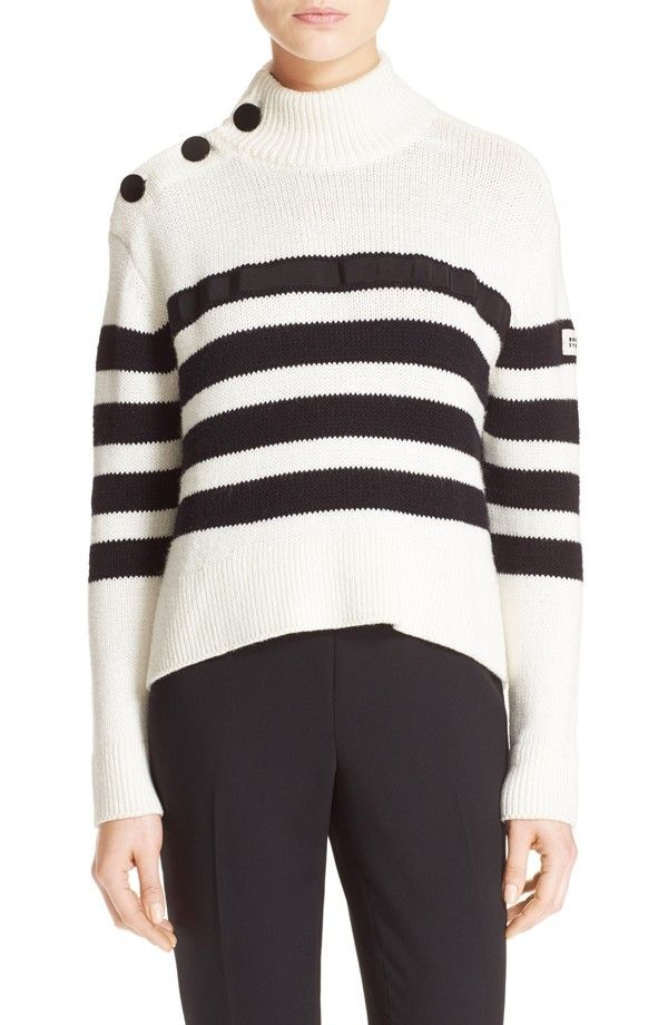 Kate Spade Stripe Mock Neck Sweater