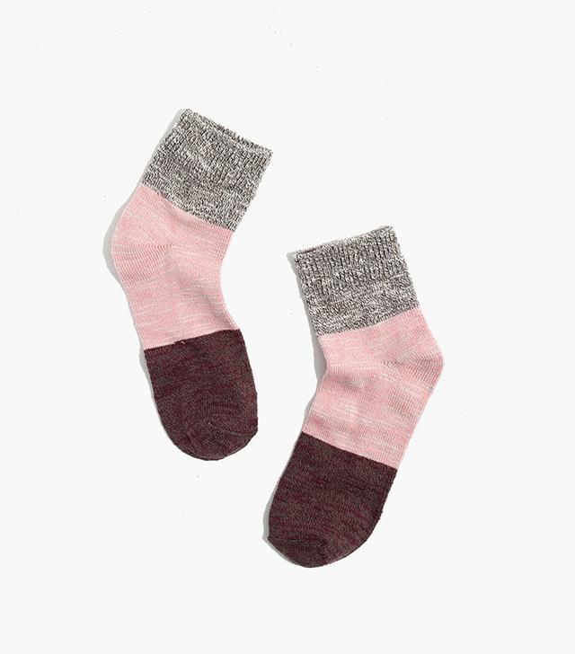Madewell Marled Colorblock Ankle Socks